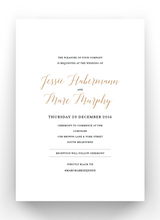 Load image into Gallery viewer, Jessie 2 Sided Print and Foil Invitations