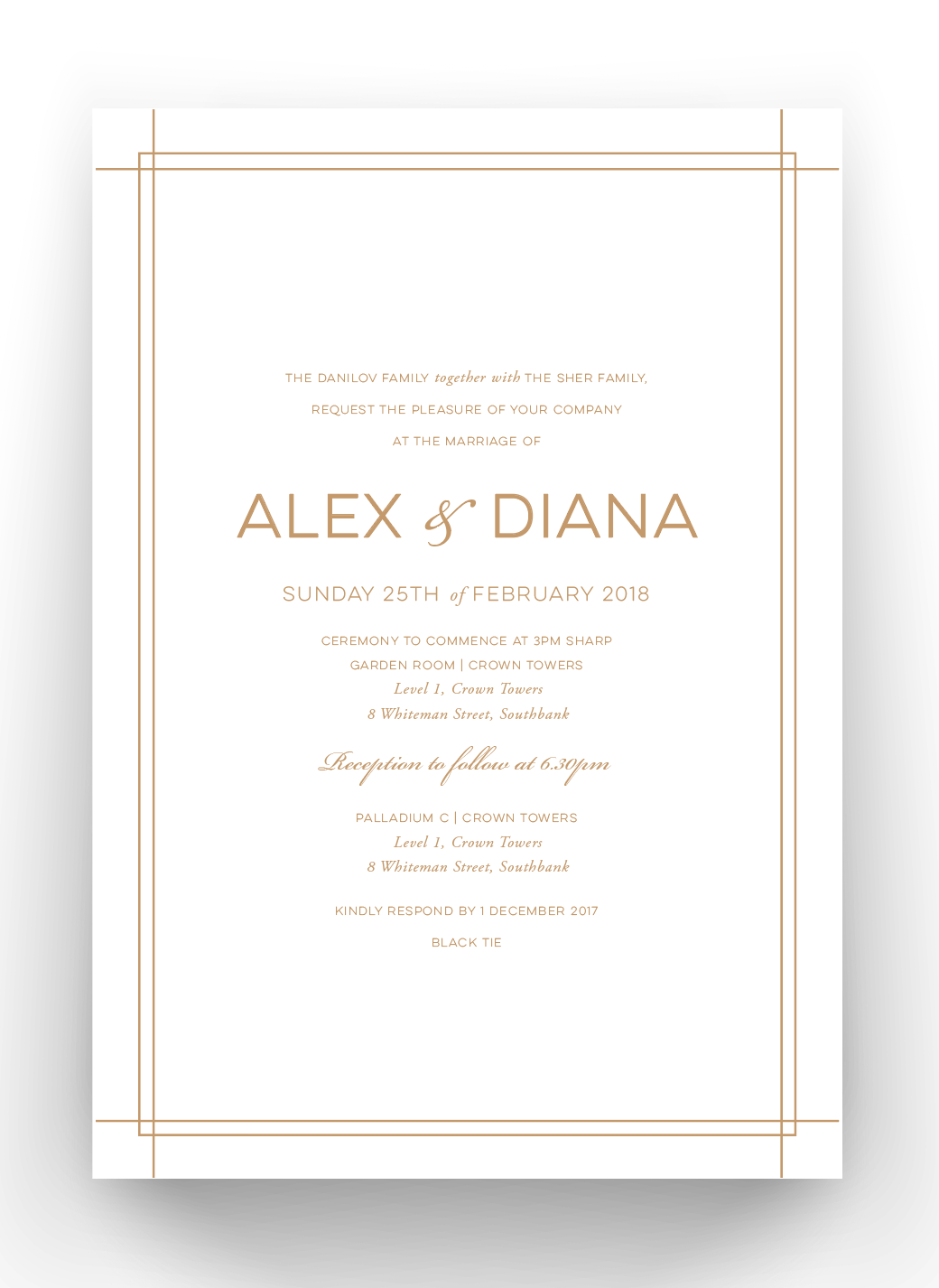 Diana Foil & Embossed Invitations