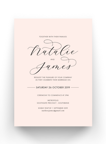 Natalie - Printed Invitations