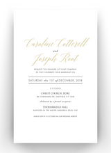 Load image into Gallery viewer, Carrie Foil & Letterpress Invitations