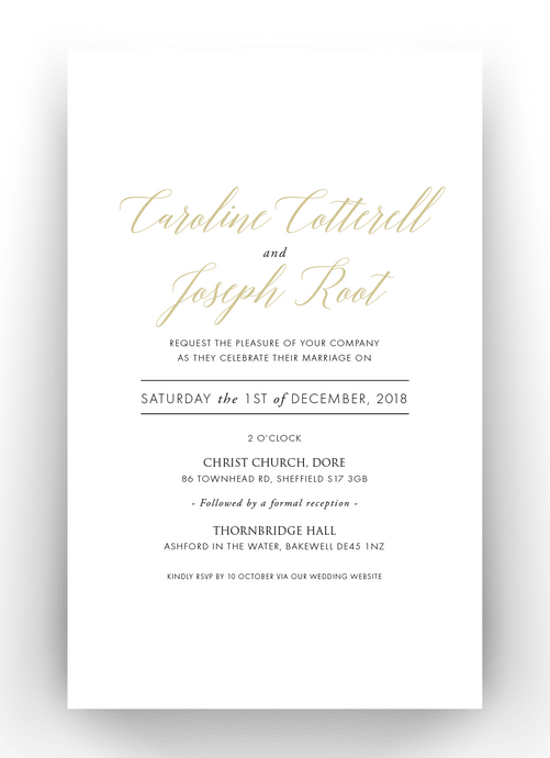 Carrie Foil & Letterpress Wedding Invitation