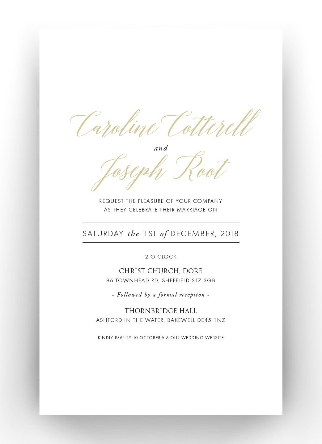 Carrie Foil & Letterpress Invitations