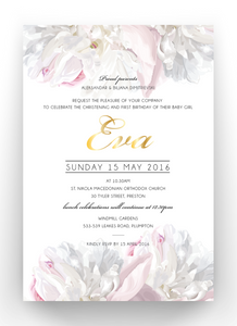 Eva Baby Baptism Invitation