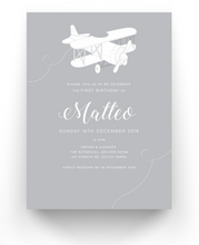 Load image into Gallery viewer, Matteo Baby Baptism Invitations