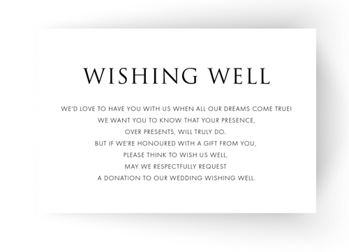 Wishing Well Cards - to match your Invitations