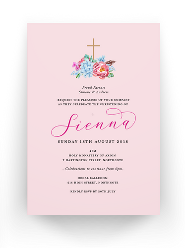 Sienna Baby Invitation