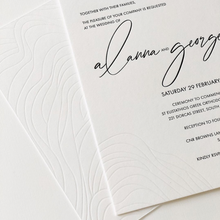 Load image into Gallery viewer, 'Alanna' Wedding Invitation