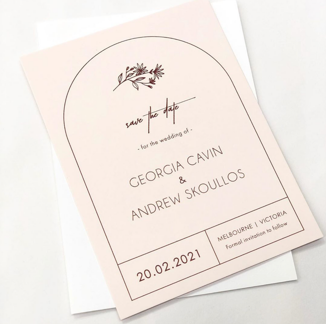 'Georgia' Save the Date Card