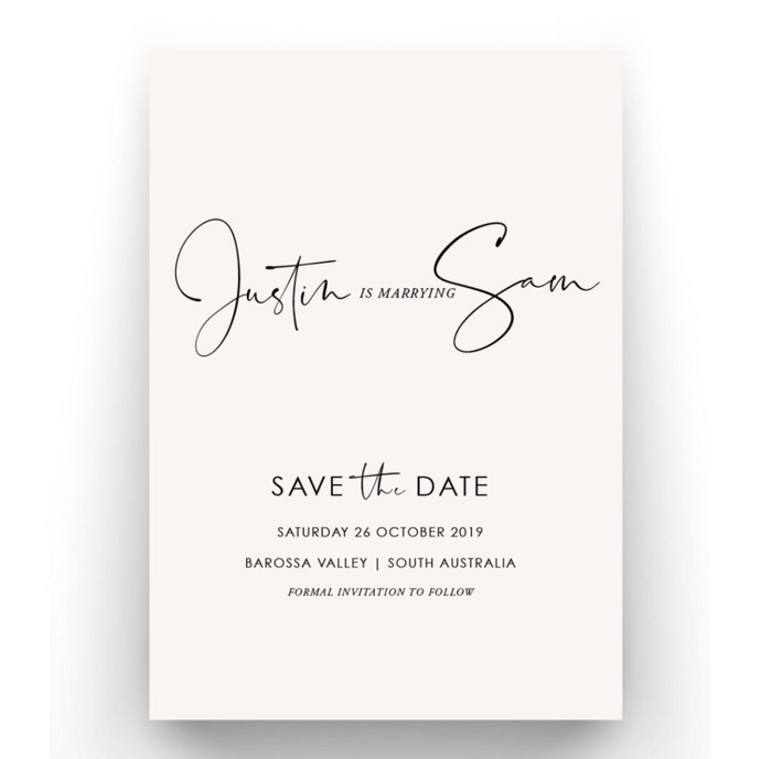 'Samantha' Save the Date Card
