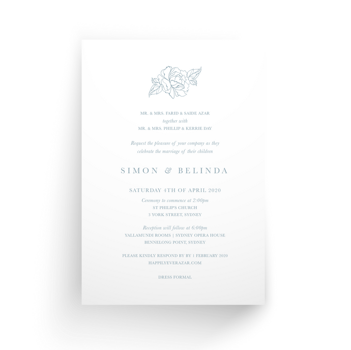 'Belinda' Wedding Invitation