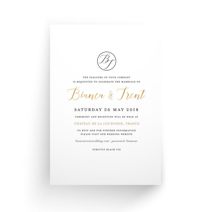 'Bianca' Wedding Invitation
