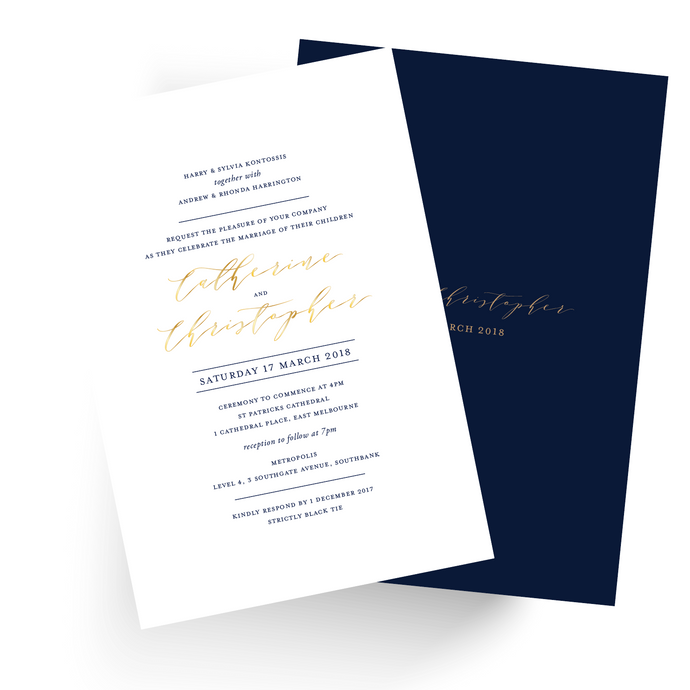 'Catherine' Wedding Invitation