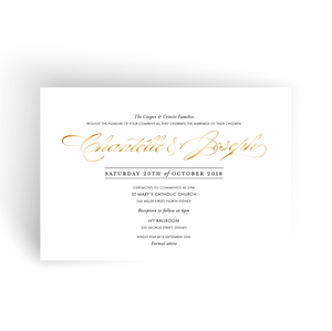 'Chantelle' Wedding Invitation