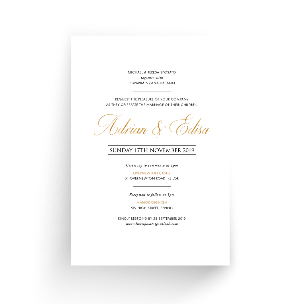 'Edisa' Wedding Invitation