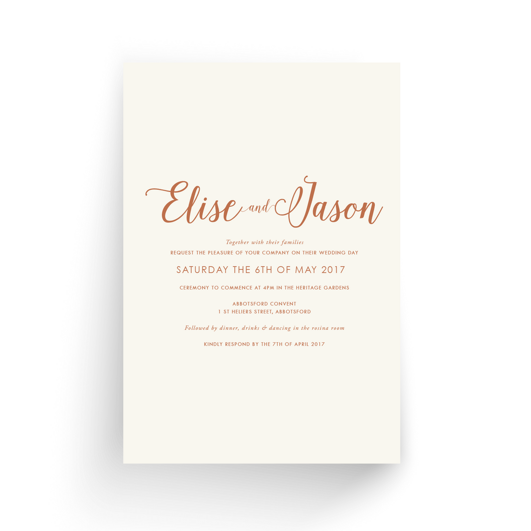 'Elise' Wedding Invitation