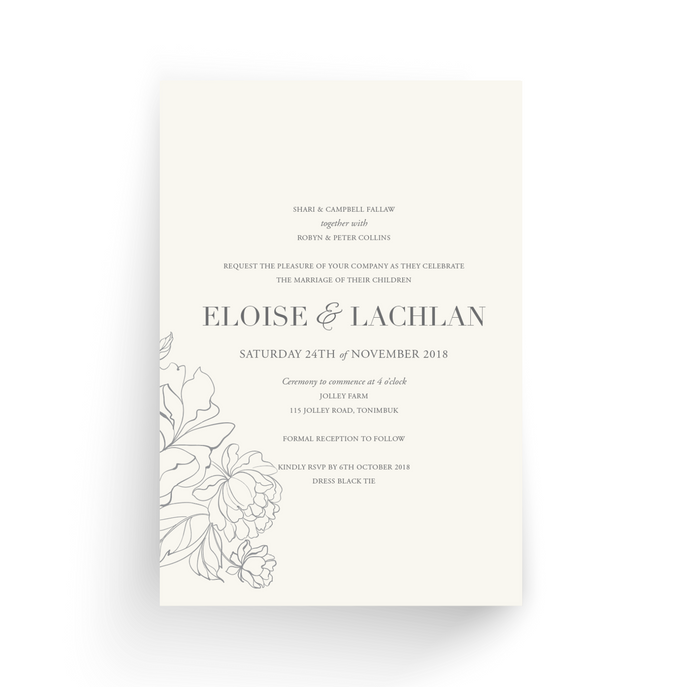 'Eloise' Wedding Invitation