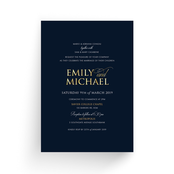 'Emily' Wedding Invitation