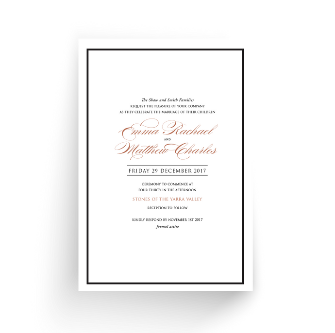 'Emma' Wedding Invitation