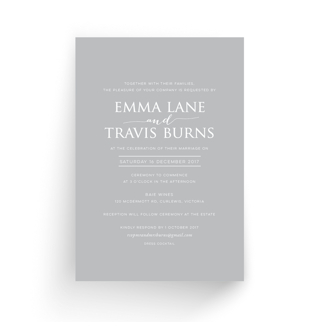'Emma Lane' Wedding Invitation