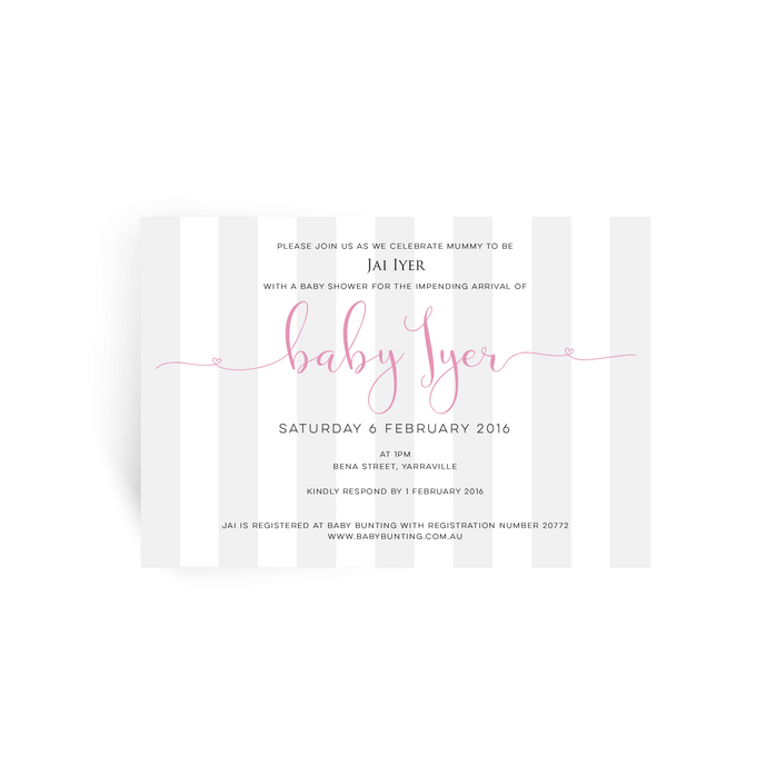 'Candy' Baby Shower Invitation