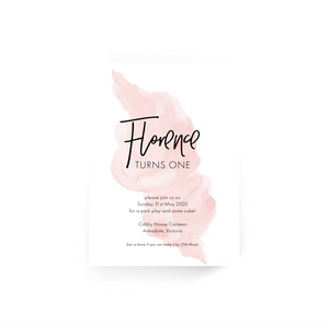 'Florence' First Birthday Invitation
