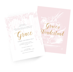 'Grace' Baby Christening Invitation - 2 sided