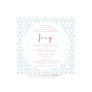 'Joey' First Holy Communion Invitation