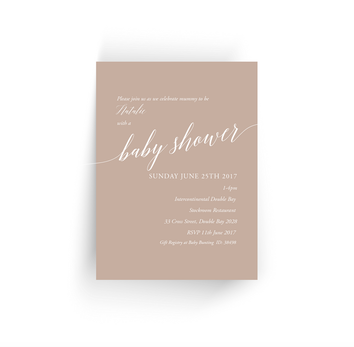 'Gumnut' Baby Shower Invitation