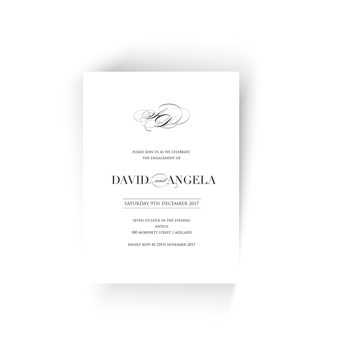 'Angela' Engagement Invitation