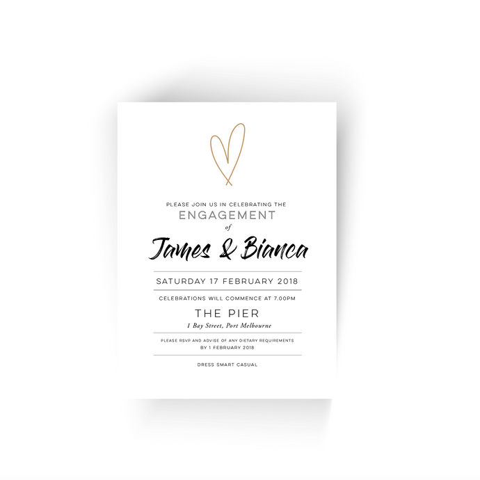 'Bianca' Engagement Invitation