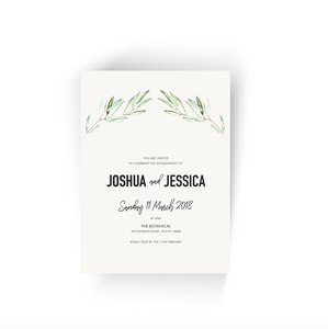 'Jessica' Olive Engagement Invitation
