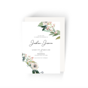 'Jessica' Floral Engagement Invitation