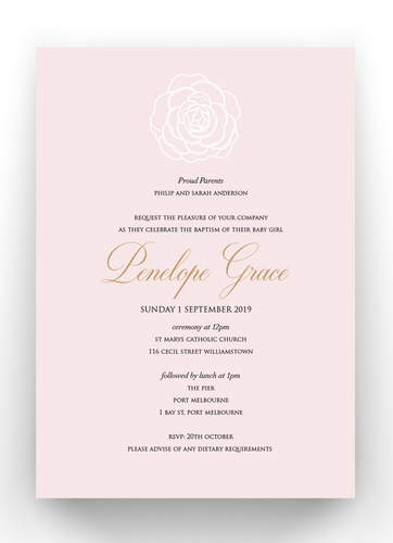Penelope Baby Invitation