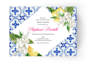 Positano Bridal Shower Invitation