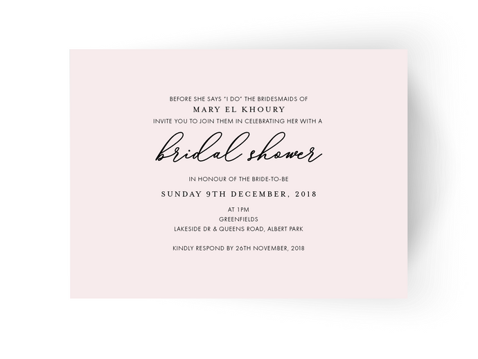 Mary Bridal Shower Invitation