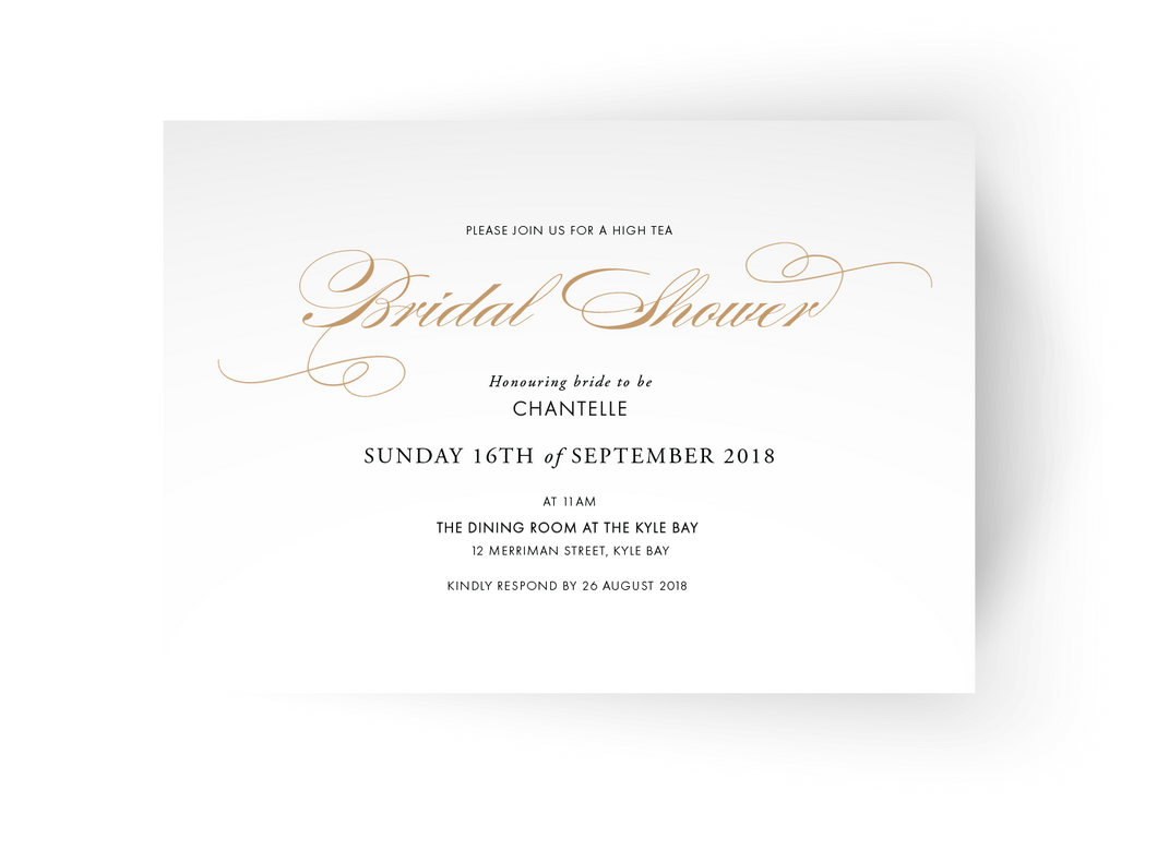 Chantelle Bridal Shower Invitation