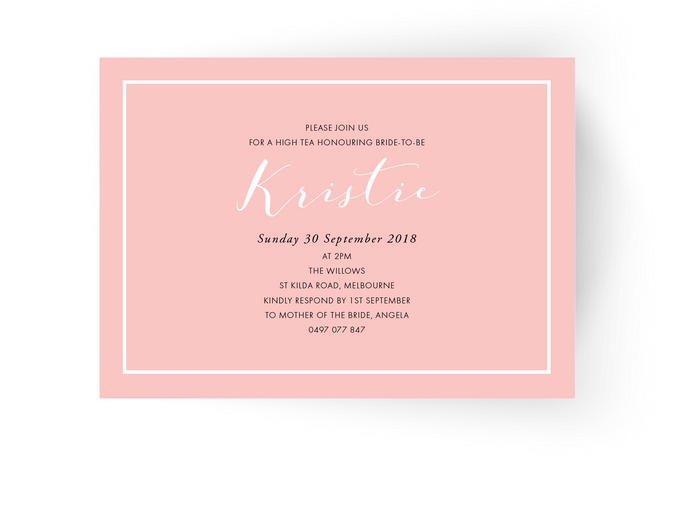 Kristie Bridal Shower Invitation
