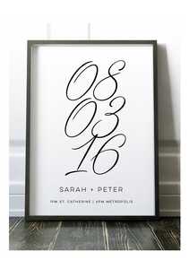 Lucky Numbers - Wedding Print (60x90cm)