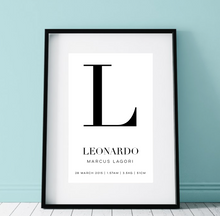 Load image into Gallery viewer, Baby Birth Poster Print (60x90cm)