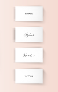 Place Cards - Guest Names