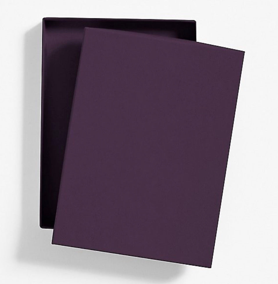 Premium Invitation Box - Aubergine