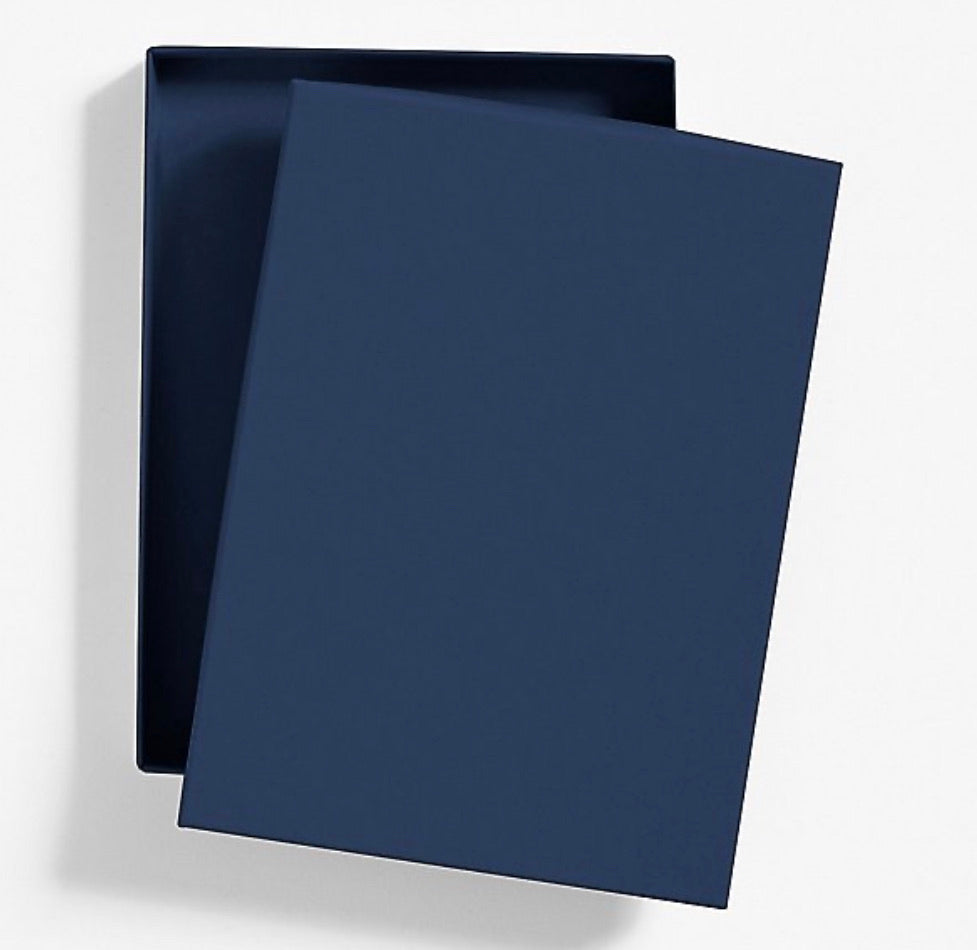 Premium Invitation Box - Navy Blue