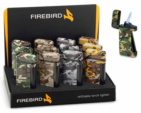 Colibri Firebird Sidewinder Camo Lighter - Havana Jim's - Finest Boutique Cigars