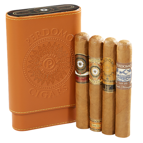 Perdomo 4-Cigar Sampler + Case - Havana Jim's - Finest Boutique Cigars