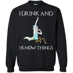 New Game Of Thrones X Rick And Morty I Drink And I Know Things T Shirt