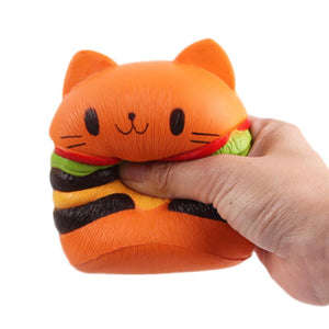 CAT HAMBURGER JUMBO SQUISHY