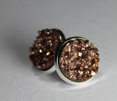 Copper Druzy Earrings