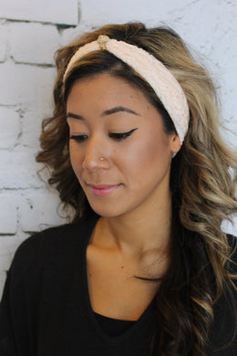 Lace Peach Headband