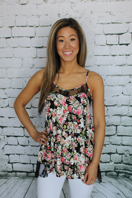 Floral and Lace Tank