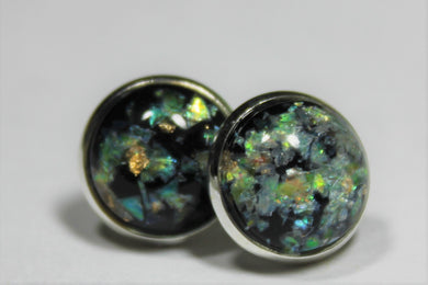 Marble Flake Stud Earrings